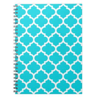 Quatrefoil Aqua Notepad Notebooks