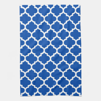 Quatrefoil Cobalt Blue Kitchen Towels