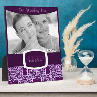 Quatrefoil Damask (Purple) Plaque