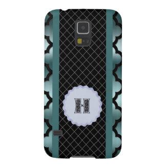 Quatrefoil Dark Turquoise Monogramed Multi Pro Case For Galaxy S5