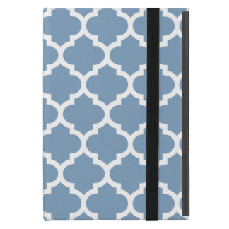 Quatrefoil Dusk Blue iPad Mini Cover