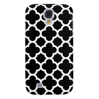 Quatrefoil Galaxy S4 Case in Black and White
