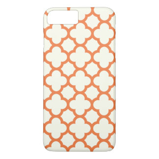 Quatrefoil iPhone 7 Plus Case in Tangerine