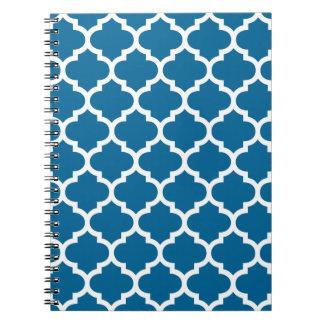 Quatrefoil Island Blue Notepad Notebooks