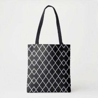 Quatrefoil Pattern Tote Bag