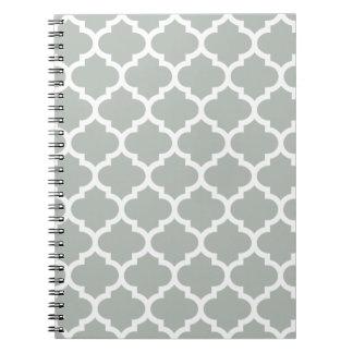 Quatrefoil Silver Gray Notepad Notebooks