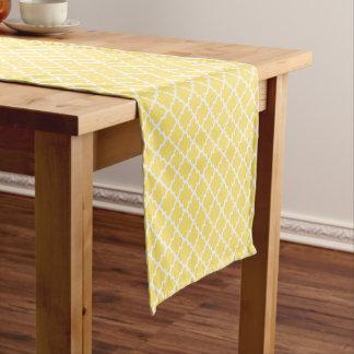Quatrefoil Table Runner | Yellow Pattern