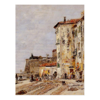 Quay at Villefranche by Eugene Boudin Postcard