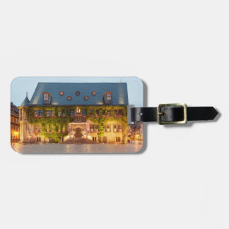 Quedlinburg Town Hall at night photo Luggage Tag