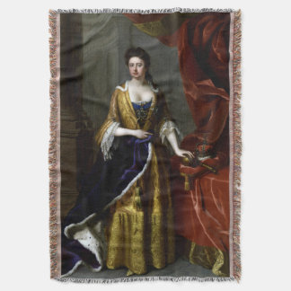 Queen Anne of Great Britain and Ireland Throw Blanket