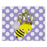 Queen Bee Polka Dot Frameable Poster