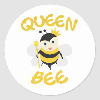 Queen Bee Round Sticker