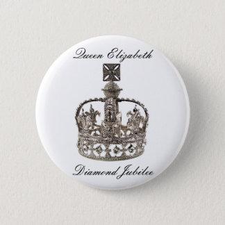 Queen Elizabeth Diamond Jubilee Button