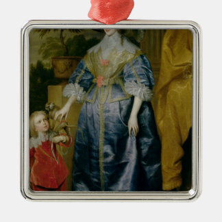 Queen Henrietta Maria and her dwarf Christmas Ornament