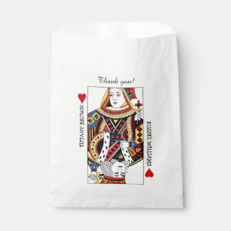 Queen n King of Hearts Wedding Favor Bags Favour Bags