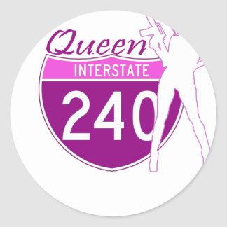 Queen Of Memphis Classic Round Sticker