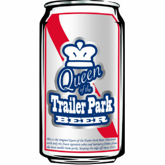 Queen of the Trailer Park Beer Can Ornament Photo Sculpture Decoration