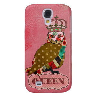 Queen Rose Owl Pink  Galaxy S4 Case