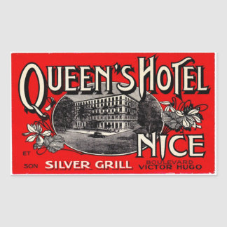 Queen' S Hotel (Nice) Rectangular Sticker
