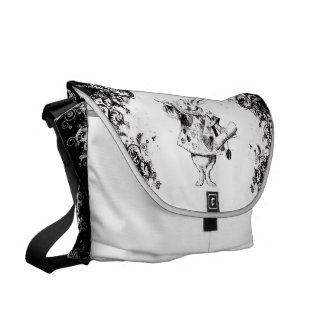 Queen's Rabbit - Vintage Alice Swirls Collection Commuter Bag