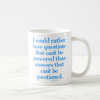 Questions and Answers Basic White Mug