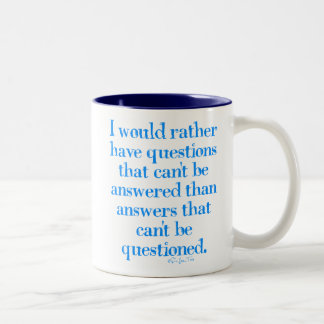 Questions and Answers Two-Tone Coffee Mug
