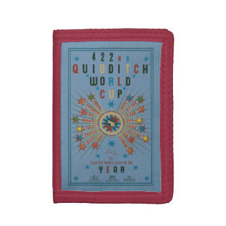 QUIDDITCH™ World Cup Blue Poster Tri-fold Wallets