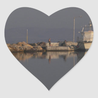 Quiet Harbor Heart Sticker
