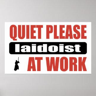 Quiet Please Iaidoist At Work Print