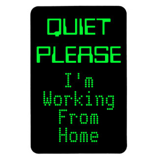 QUIET PLEASE I'm Working From Home Magnetic Sign Rectangular Photo Magnet