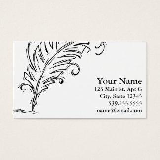 Quill Pen Business Card