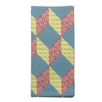 Quilt Baby Block Pattern in Retro Colors Napkin
