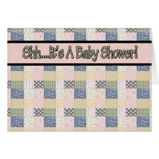 Quilt Baby Shower Invitations Card