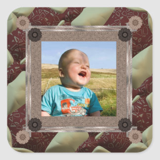 Quilt Enthusiast Photo Template Square Sticker
