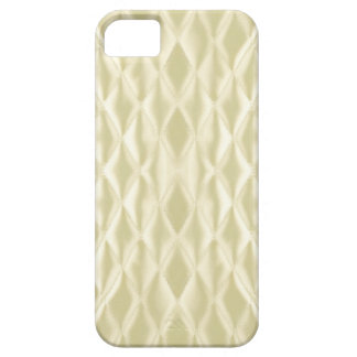 Quilted satin, cream iPhone 5 covers