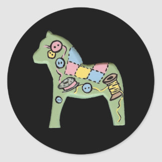 Quilter's Dala Horse Sticker
