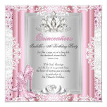 Quinceanera 15th Birthday Party Light Pink Shoes 3 13 Cm X 13 Cm Square Invitation Card