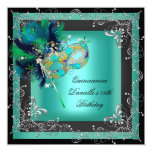 Quinceanera 15th Birthday Party Masquerade Personalised Invites