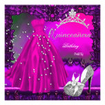 Quinceanera 15th Birthday Party Pink Dress Personalised Invite