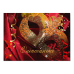 Quinceanera 15th Birthday Party Red Black Mask 3