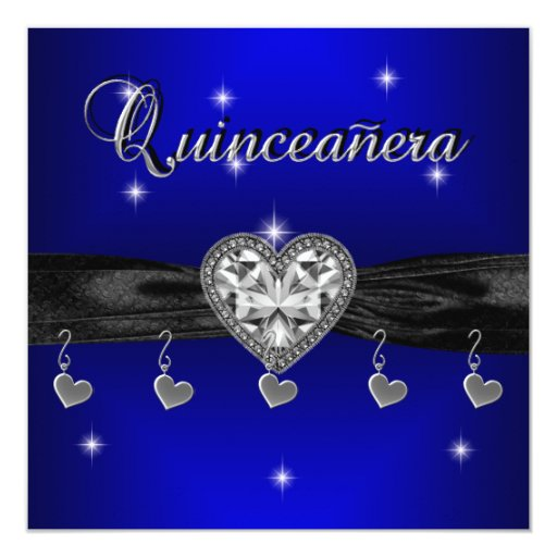 Quinceanera 15th Birthday Party Royal Blue Black