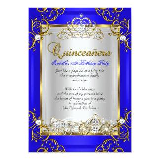 Quinceanera 15th Birthday Royal Blue Card