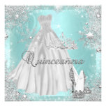 Quinceanera 15th Teal Silver Birthday Party