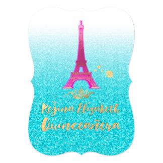 Quinceanera/Eiffel/Neon Pink/Princess/Crown Card