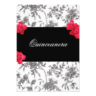 Quinceanera Invitation / Sweet Fifteen Personalized Announcement