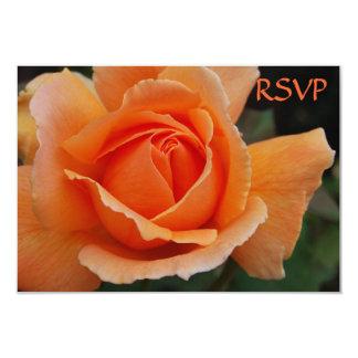 """Quinceanera Invite RSVP Orange Roses 3.5"""" X 5"""" Invitation Card"""