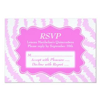 Quinceanera Pink Zebra Print Pattern Card