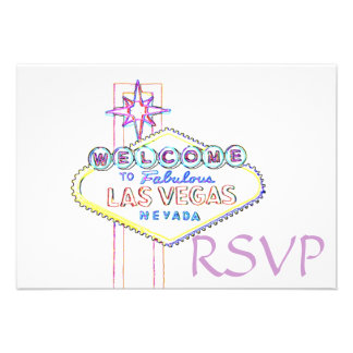 Quinceanera RSVP Las Vegas Pastel Art Custom Announcements