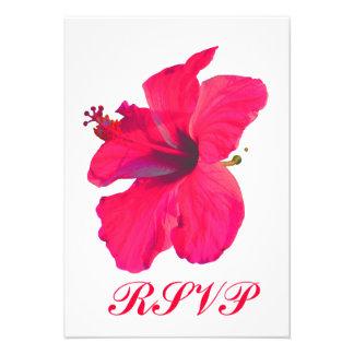 Quinceanera RSVP Pretty Pink Flower Custom Invitation