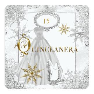 Quinceanera White Silver Snowflakes Tiara Card